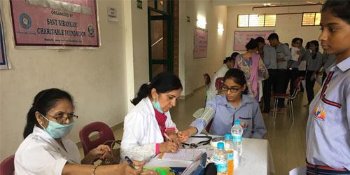 Health Check-up Camp organized at SNPS Faridabad
